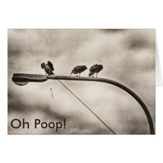 Oh Poop... belated birthday card