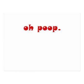 Oh Poop Postcard