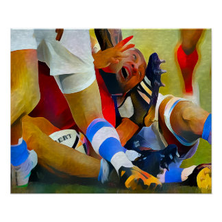 Oh Ref! - Rugby Art On Canvas Poster