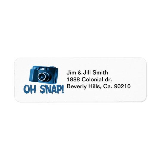 Oh Snap Camera Return Address Label