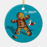 Oh Snap! Christmas Ornament (teal)