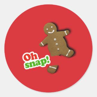 Oh Snap Classic Round Sticker