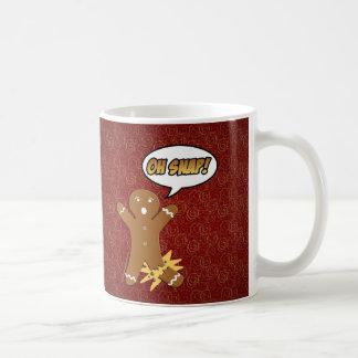 Oh Snap! Funny Gingerbread Man Mugs