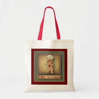 Oh Snap Gingerbread Gift Bag Budget Tote Bag