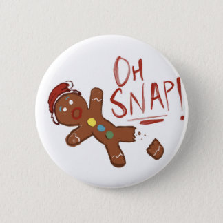 Oh Snap Gingerbread Man 6 Cm Round Badge