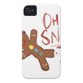 Oh Snap Gingerbread Man iPhone 4 Case-Mate Case