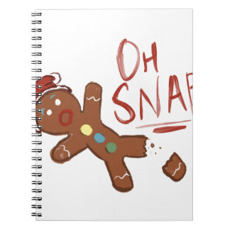 Oh Snap Gingerbread Man Notebook