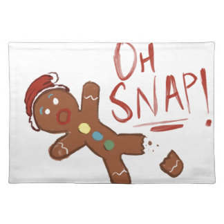 Oh Snap Gingerbread Man Placemat