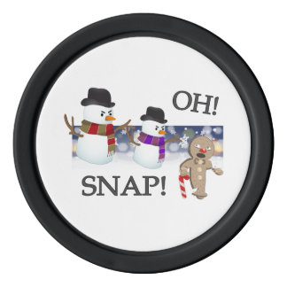 Oh Snap Gingerbread Man Poker Chips