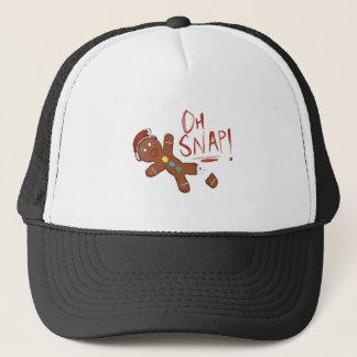 Oh Snap Gingerbread Man Trucker Hat