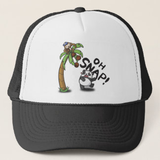 Oh Snap Panda & Monkey Trucker Hat