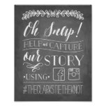 Oh Snap! | Wedding Hashtag Sign Poster
