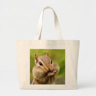 Oh So Cheeky Chipmunk Jumbo Tote Bag