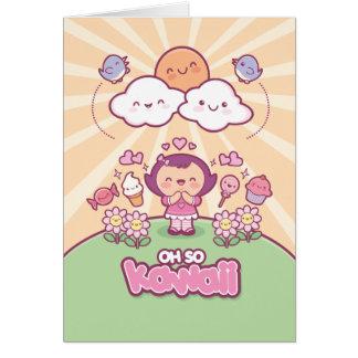 Oh So Kawaii Greeting Card