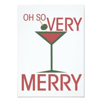 Oh so VERY MERRY Christmas 4.5x6.25 Paper Invitation Card