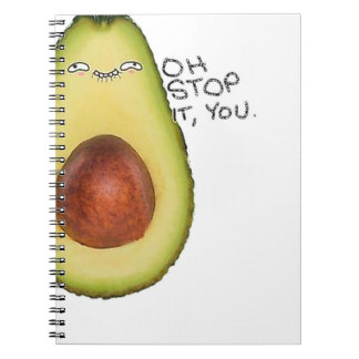 Oh Stop It You - Meme Avocado Spiral Notebook