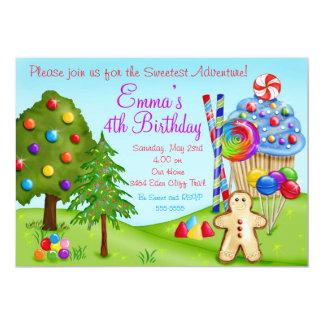 Oh Sweet Candyland Birthday Cupcake Invitations