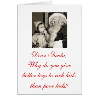 "Oh that's just wrong ""Dear Santa"" Christmas Cards! Card"