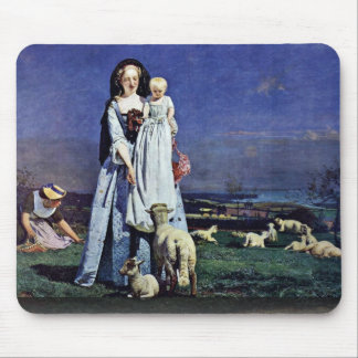 Oh, The Dear Lambs (Summer Heat) Mouse Pad