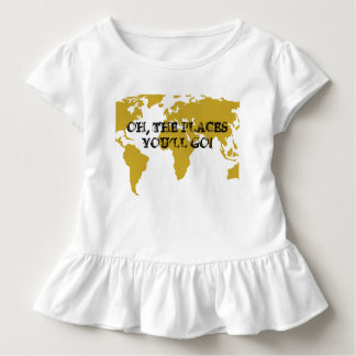Oh the Places You'll Go! - Baby Ruffle Shirt