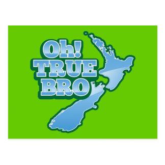 Oh TRUE BRo! kiwi map Postcard