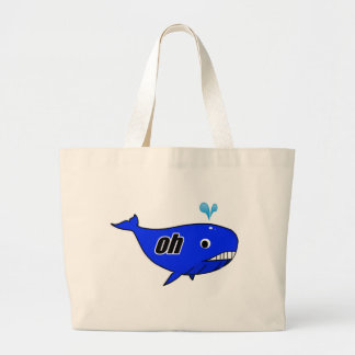 Oh Wale Oh Well Large Tote Bag