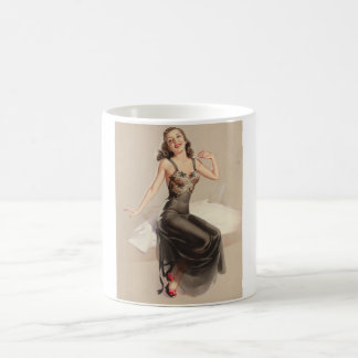 Oh! What a Beautiful Morning, Glamour Pin Up Art Coffee Mug