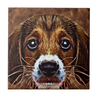 OH! What a Puppy Dog! - Precious Beagle Small Square Tile