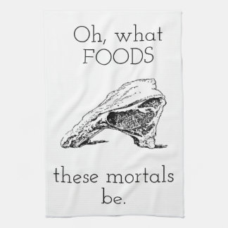 Oh what foods tea towel