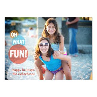 Oh What Fun 13 Cm X 18 Cm Invitation Card