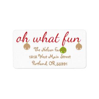 Oh What Fun! Christmas custom labels