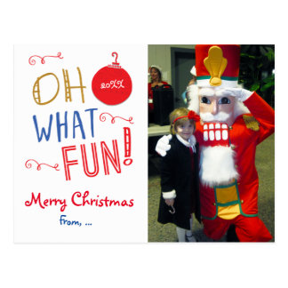 Oh What Fun Christmas Holiday Photo Postcard