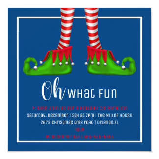 Oh, What Fun Christmas Party Invitation