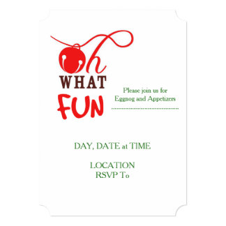 Oh What FUN! Christmas Party Invitations