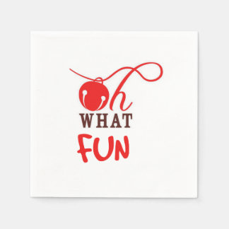 Oh What FUN! Christmas Party Paper Napkins