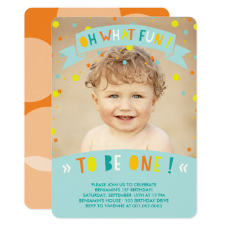 Browse Zazzle First Birthday invitation templates and customise with your own text, photos or designs.