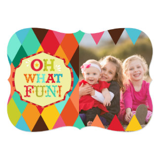 Oh What Fun! Custom Photo Holiday Greeting Card