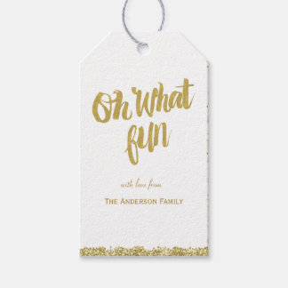 Oh what fun glitter gift tags