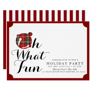 Oh What Fun | Holiday Party Invite