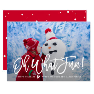 Oh What Fun! Holiday Photo Card