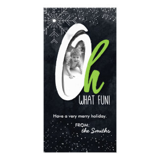 Oh What Fun! Holiday Photo Card with Snow Flake