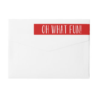 Oh What Fun! | Holiday Return Address Labels Wraparound Return Address Label