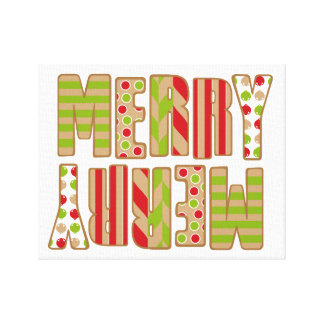 Oh What Fun! Merry Christmas wrapped canvas Canvas Print