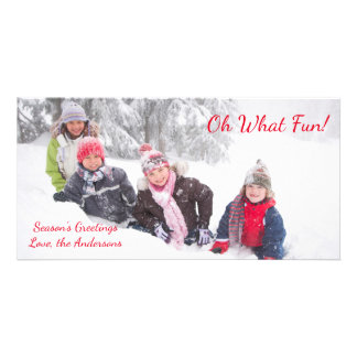 Oh What Fun - Photo Card