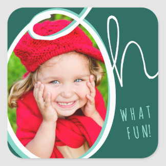 Oh What Fun Photo Sticker