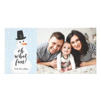 Oh What Fun Snowman Holiday Photo Card
