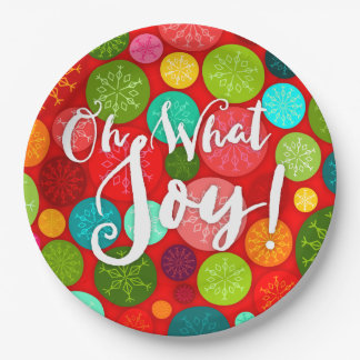 Oh What Joy! Colorful Holiday Paper Plates