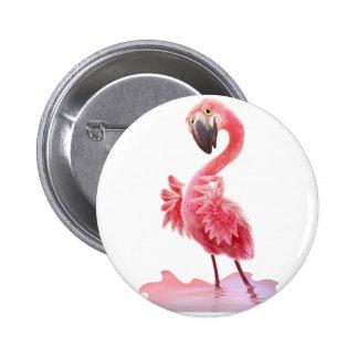 Oh Yeah Flamingo! 6 Cm Round Badge