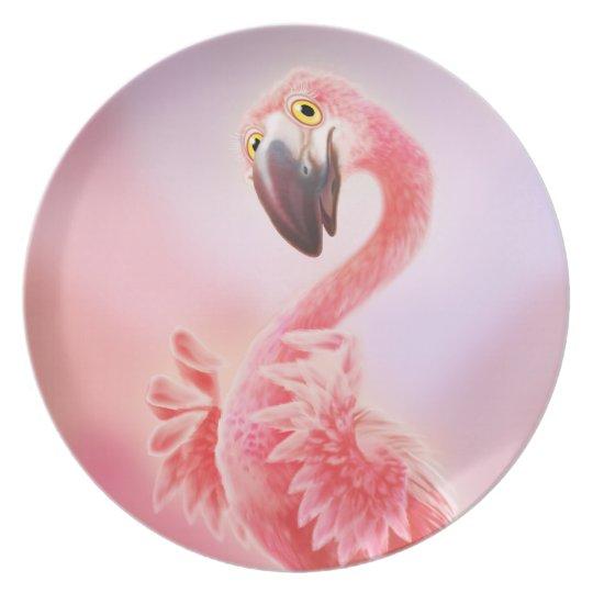 Oh Yeah Flamingo! Plate
