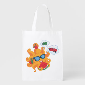Oh! Yeah! it's summer time Reusable Grocery Bag
